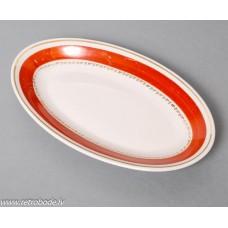 Porcelāna ovals šķīvis, trauks, PFF, 1960-e gadi