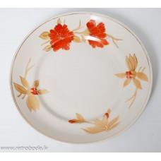 Porcelāna šķīvis, magones, RPF, Rīgas porcelāns