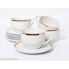 4 gab. Porcelāna kafijas komplekts, tases un apakštases