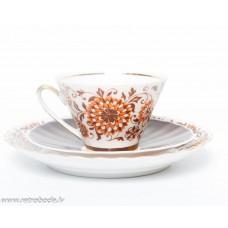 """Komplekts, porcelāna kafijas tase un divas apakštases """"Vita"""""""