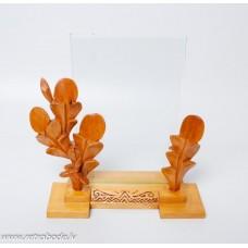 Rāmis fotogrāfijai, koka pamatne ar stiklu