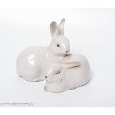 Porcelāna figūriņa, truši