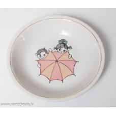 Bērnu porcelāna zupas šķīvis, PFF