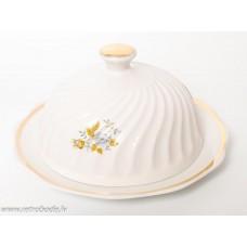 Porcelāna sviesta trauks, lustra, RPR, Rīgas porcelāns